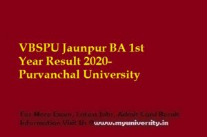 VBSPU BA 1st Year Result 2020