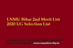 LNMU 2nd Merit List 2020