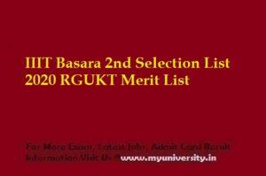 IIIT Basara 2nd Selection List 2020