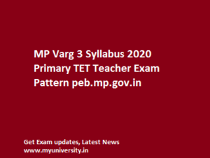 MP Varg 3 Syllabus