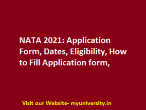 NATA 2021 Application Form