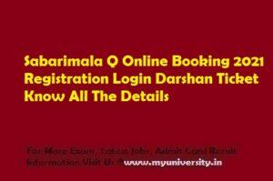 Sabarimala Q Online Booking 2021 Registration Login