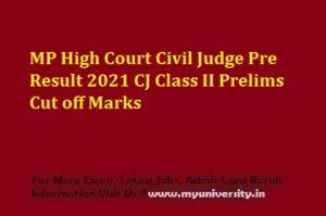 MP High Court Civil Judge Pre Result 2021